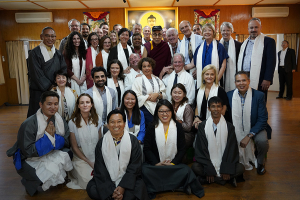 His Holiness with the Museum Summit Participants